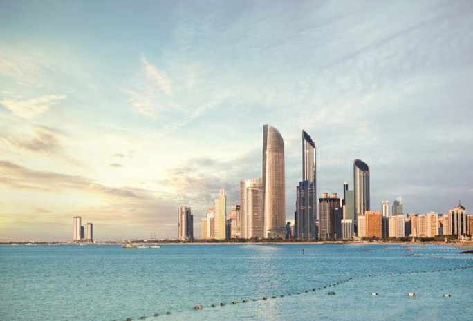 Watch the sunset at Abu Dhabi Corniche